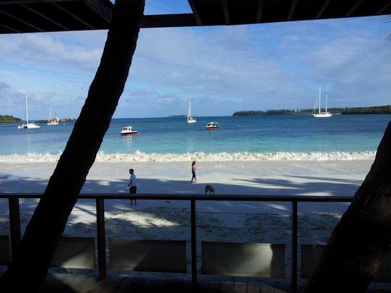 Hotel Kou-Bugny : vue de la terrasse du restaurant