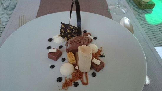 Chateau du Clos de la Ribaudiere : Dessert chocolat café caramel (septembre 2014)