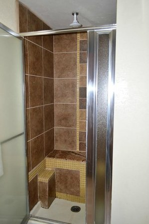 Marble Canyon Lodge: Stall shower with built in bench