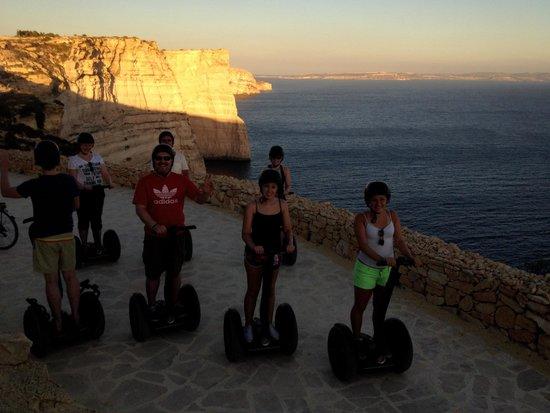 Gozo Segway Tours: Sanap cliffs gozo at sunset...amazing