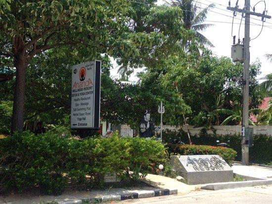 Ananda Yoga & Detox Center: La entrada