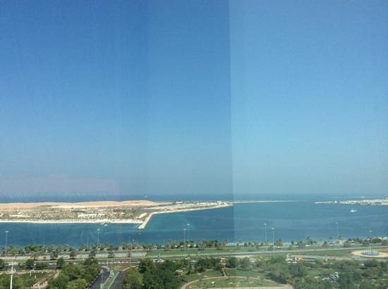Le Royal Meridien Abu Dhabi: the view from our room