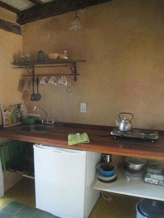 Las Jarillas: Cocina en habitación