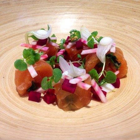 Restaurant Origine: Samon betterave