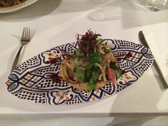 Meeka Restaurant: Vegetarian filo parcel