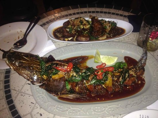 Traditional Thai: Whole flathead and braised beef brisket