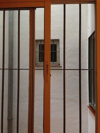 Hotel Sur: Uitzicht door ons raam
