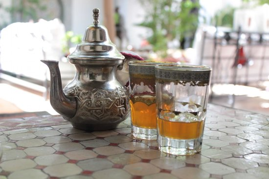 Riad Karmela: Mint tea at arrivel