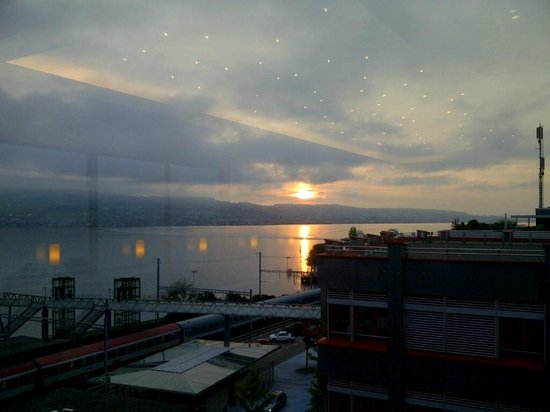 Hotel Meierhof: From the dining room/breakfast Hall.  Sunrise.