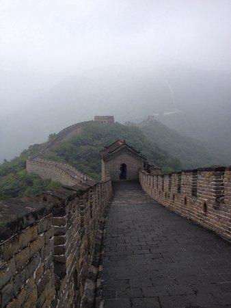 Great Wall at Huanghuacheng : En un día un poco nublado