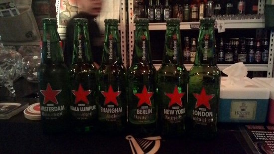 Speak Eazy - The Alternative Bar/Bistro: The Heineken promotional bottles