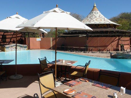 AVANI Victoria Falls Resort: View from restaurant