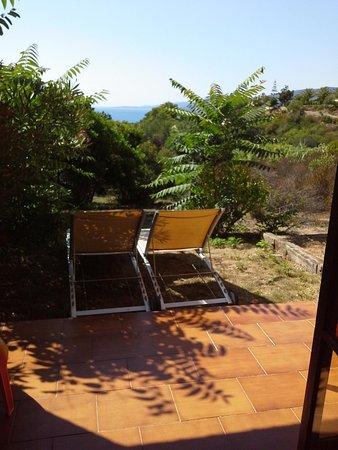 Hôtel Restaurant Bartaccia : Petite terrasse avec jolie vue