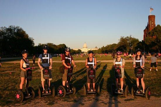 Segs in the City : Seg'ing in Washington as the sun goes down