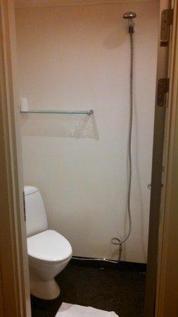 Copenhagen Go Hotel : Bathroom/Shower and Toilet in same tiny room