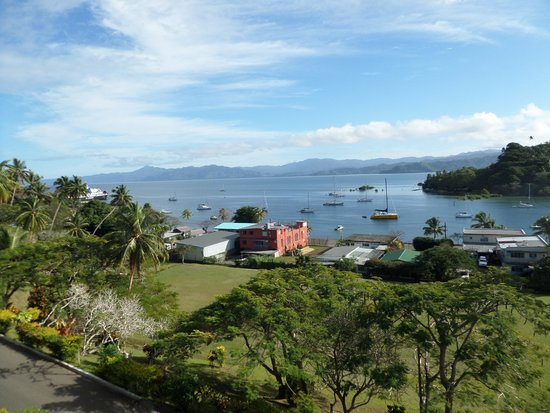 Savusavu Hot Springs Hotel : View from our balcony