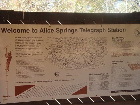 Alice Springs Telegraph Station Historical Reserve : Info Board