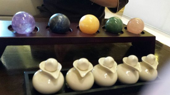 Altira Hotel: hot massage balls that  will be used. supposely connect to different  energy