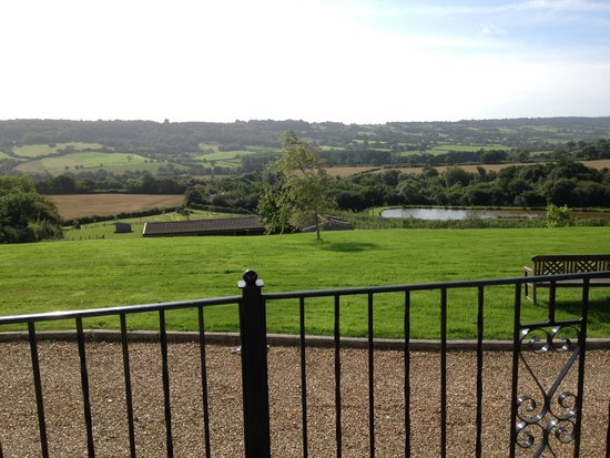 Odle Farm Holiday Cottages: View from Willow Cottage Patio