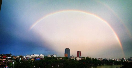 Heart Hotel: a wonderful rainbow taken by Coco and her pretty son Blaise