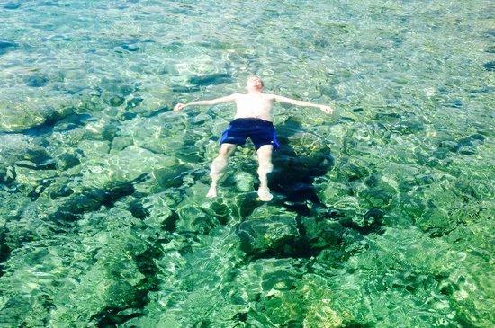 Minos Beach Art hotel: The private beach
