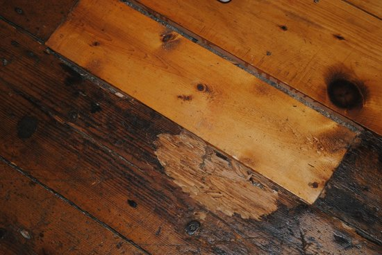 Water Street Tavern & Inn: Rotten floor boards