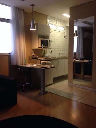 Hotel Valentini Di Lucca: A parte da cozinha dentro do apartamento bem organizada e limpa