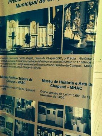 Museu de Historia e Arte de Chapeco/ Prefeitura