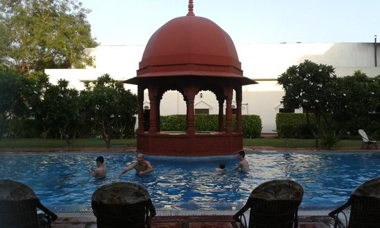 The Grand Imperial, Agra: La Piscine vue de ma chambre