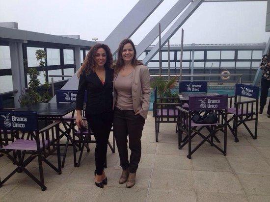 Ros Tower Hotel: En la terraza...