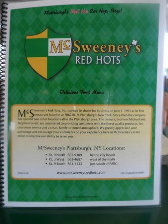 Mc Sweeney's Red Hots Incorporated