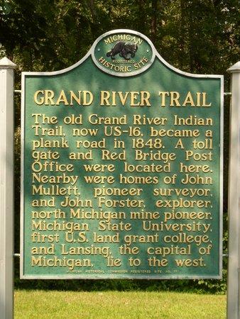 Williamston, MI: MI-GRAND RIVER TRAIL - SIGN