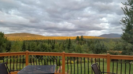 Bear Mountain Lodge : View from the back deck