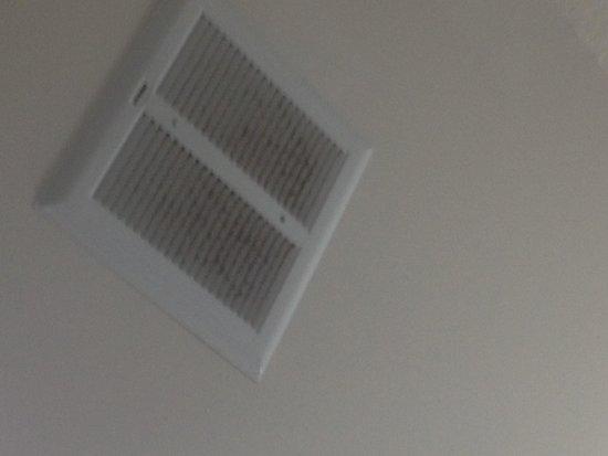 Comfort Inn & Suites: Bathroom fan vent was dirty