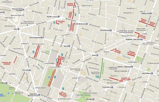 Rue Montorgueil: Conjugue a rue Montergueil com as passagens cobertas, deixando-a como encerramento do tour