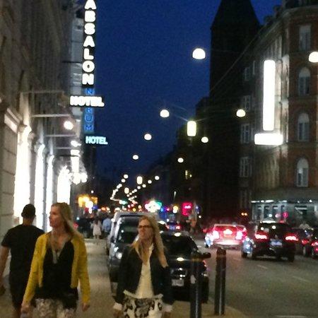Copenhagen Star Hotel : Hotel street