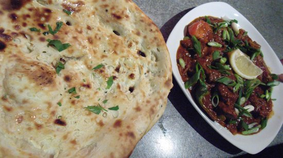 Madras Express: Chicken Devel (Chef Special) with Naan Bread