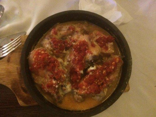 Moldavie : Chicken ketsi (a bit spicy and rich in garlic)