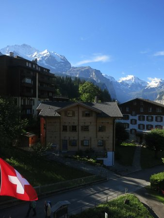 Hotel Baeren: View from our balcony at the Baren