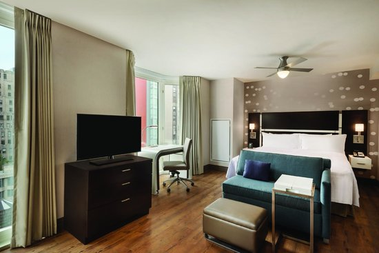 Homewood Suites by Hilton New York/Midtown Manhattan Times Square-South, NY: Efficiency Studio with City View