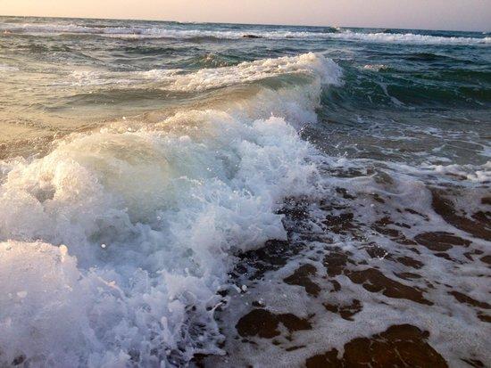 Dessole Malia Beach Hotel : Закат при волнении