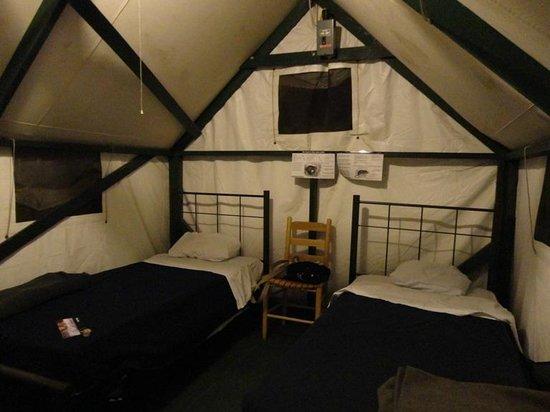 Half Dome Village : interno tenda
