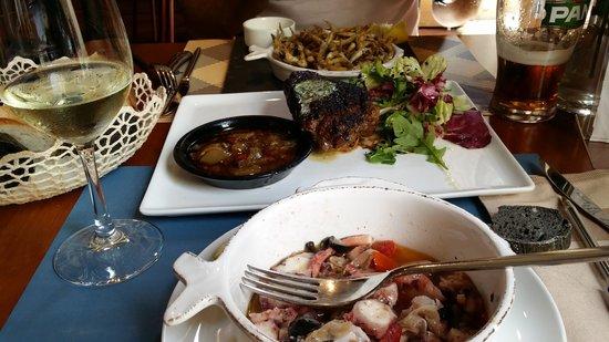 Bokeria Kitchen & Wine Bar: pesacado, pulpo y beef