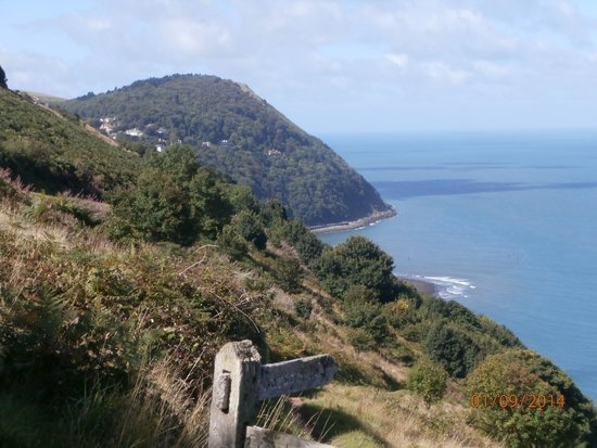 Shelley's: Looking across to Lynmouth from the SW coastal path