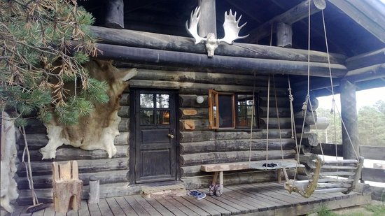 Engholm Husky Design Lodge Karasjok : Une cabine avec SDB