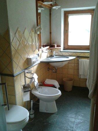 Hotel Cime Bianche: Bagno della camera