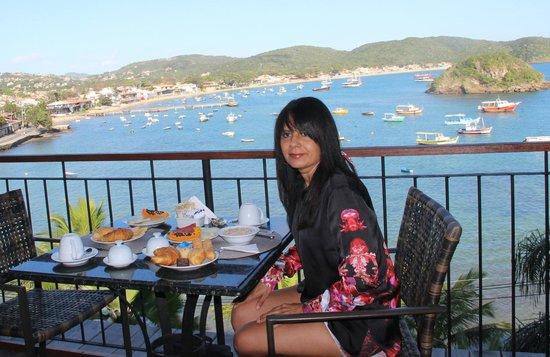 Vila d'este: Restaurante com vista para o mar