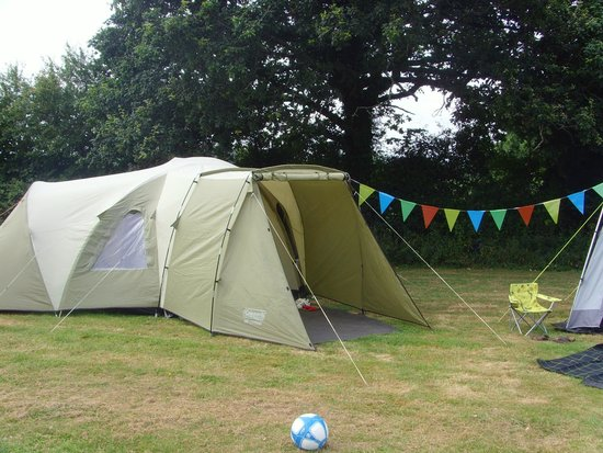 Ross Park Caravan Park : One of our tents... we had three on that pitch!