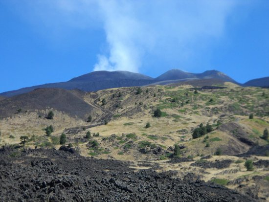 Etna Experience Excursions: The best view we got of the summit