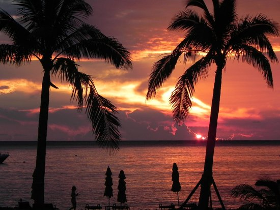 Four Seasons Resort Nevis, West Indies: Great sunsets